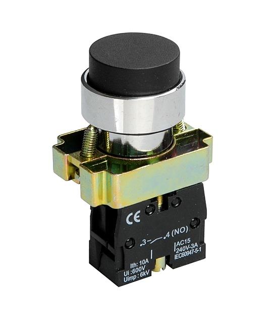 Кнопка XB2-BL21 1NO без подсветки черный