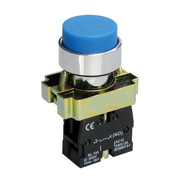 Кнопка XB2-BL61 1NO без подсветки синий