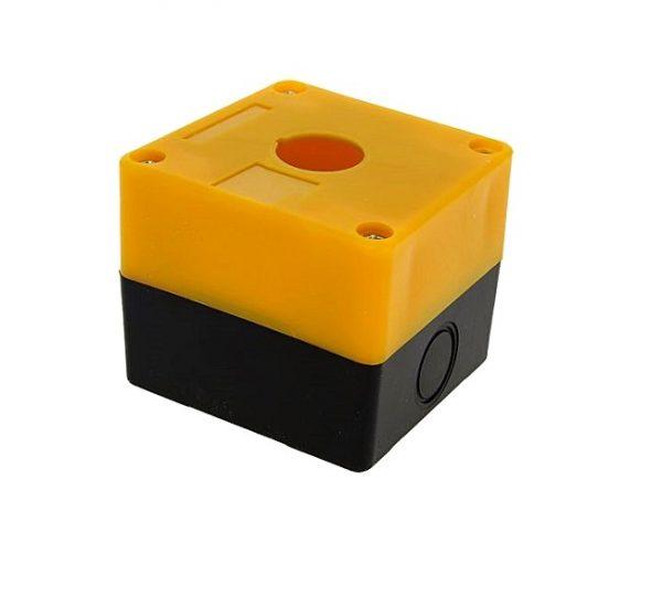 Корпус КП101 для кнопок, 1 место, желтый
